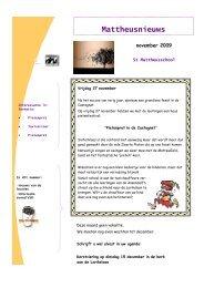 Nieuwsbrief november 2009 - St. Mattheusschool