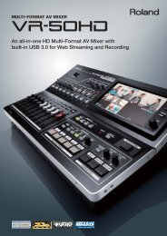 VR-50HD Preliminary Brochure - Roland Systems Group