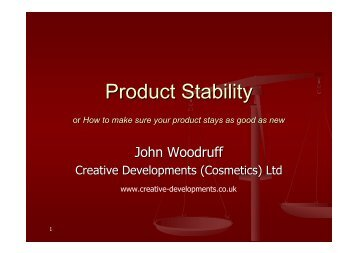 Cosmetic Product Stability.pdf - Creative Developments