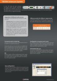 TB3000 Intercom System - Kroma