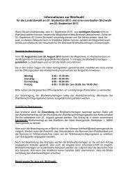 Briefwahl - Wernigerode