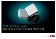 ABB Junction boxes Top solutions for surface mounting