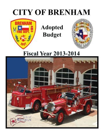 FY 2013-2014 Budget - City of Brenham