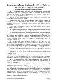 Reglement bezüglich der Benutzung der Feld- und ... - Septfontaines