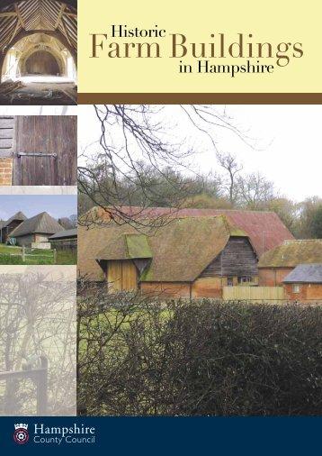 Historic farm buildings - Hampshire County Council