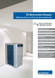 Öl-Brennwert-Kessel - Interdomo GmbH