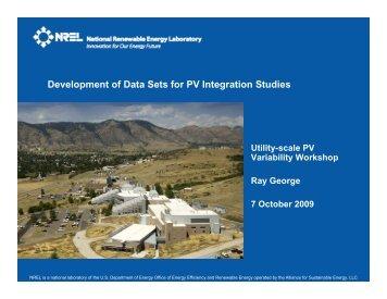 Ray George, National Renewable Energy Laboratory