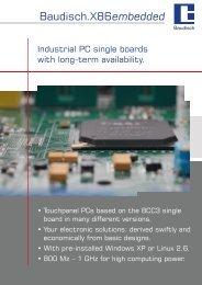 Flyer X86 embedded - Baudisch Electronic GmbH