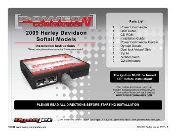 2009 Harley Davidson Softail Models - Power Commander