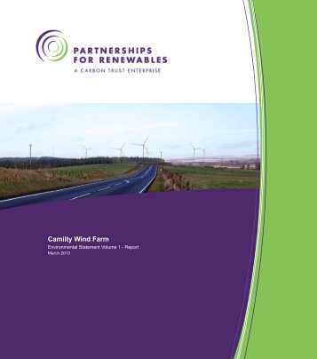 Camilty Wind Farm - Partnerships for Renewables