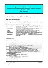 AGB Netzanschluss und Anschlussnutzung MSP - Stadtwerke Velbert