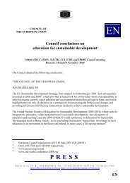 EN Council conclusions on education for sustainable ... - Europa
