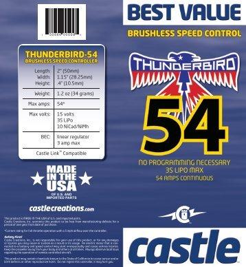 On-Line Thunderbird-54 User Guide - BP Hobbies
