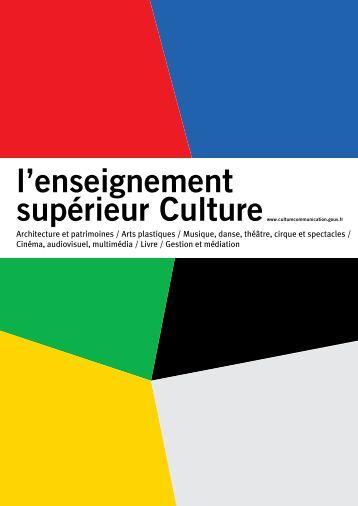 Brochure Enseignement Supérieur 2013 - Ministère de la Culture et ...