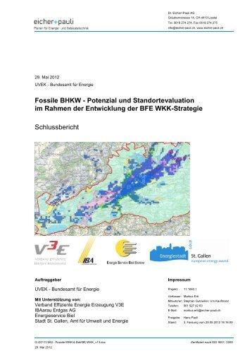 Fossile BHKW - Potenzial und Standortevaluation im Rahmen ... - V3E