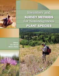 Inventory and Survey Methods for Nonindigenous Plant Species