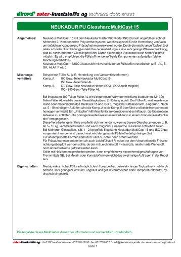 Multicast 15 Giessharz - Suter Swiss-Composite Group