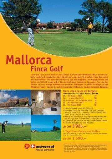 Finca Golf - Reisebüro SUAC AG
