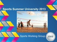 Sports Summer University 2013 - Projects