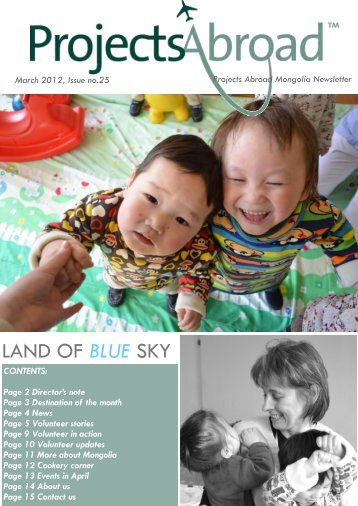 Mongolia Newsletter - March 2012 - Projects Abroad