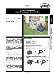 Installationsanleitung GRAF Technikpaket Haus ... - Zisterne - Shop
