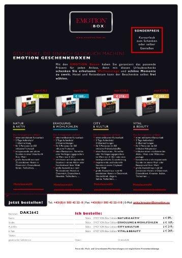 Emotion Kurzurlaub Geschenkboxen - Klagenfurt