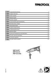 DRP 20 ET DRP 20-2 E PDP 32-2 EQ - Protool GmbH