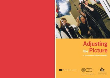 Adjusting the Picture – a Producer's Guide to Disability - Ofcom