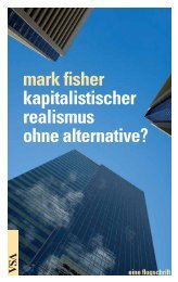 mark fisher kapitalistischer realismus ohne alternative? - VSA Verlag