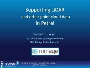 Supporting LiDAR and other point cloud data in Petrel - Ocean