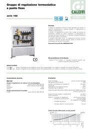 Gruppo di regolazione termostatica a punto fisso - Caleffi