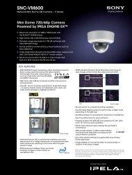 Datasheet Sony SNC-VM600 - IT Connect