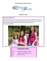 UPCOMING EVENTS… - Charlotte-Mecklenburg Schools