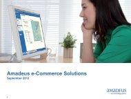 Amadeus e-Commerce Solutions - Investor relations at Amadeus