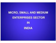 Micro, Small and Medium Enterprises Sector in India - Tourism in ...
