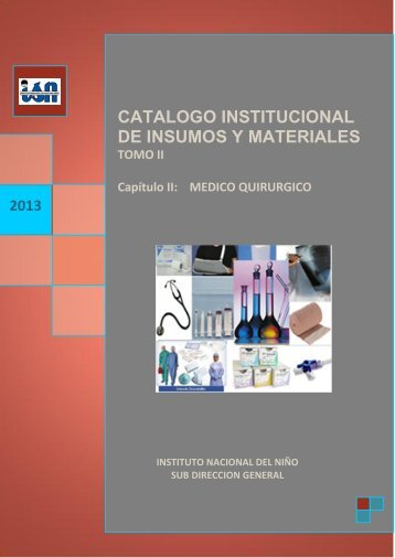 CAPITULO II-MEDICO QUIRURGICO.pdf - Instituto Nacional de ...