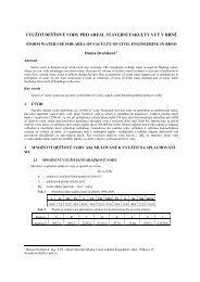 text text – název příspěvku v českém jazyce - Fakulta stavební