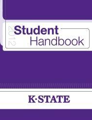 Student Handbook - Kansas State University