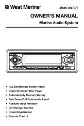 OWNER'S MANUAL - West Marine