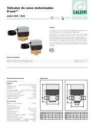 Válvulas de zona motorizadas Z-one - Caleffi