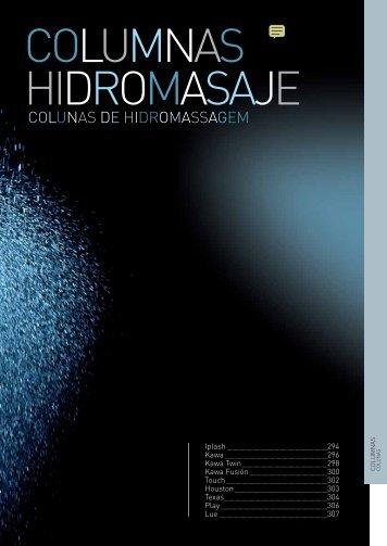 Columnas de ducha o hidromasaje catálogo - Venespa
