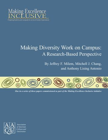 Making Diversity Work on Campus: - Stanford Institute for Higher ...