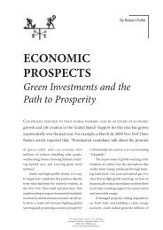 Green Investments and the Path to Prosperity - Political Economy ...