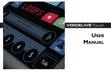 VoiceLive Touch User Manual - TC-Helicon