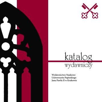 katalog wydawniczy - Uniwersytet Papieski Jana Pawła II