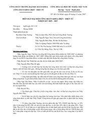 Biên bản Đại h ội Công Đoàn năm 2007 - Khoa Điện Điện Tử
