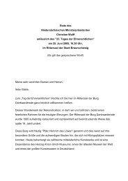 Rede des Niedersächsischen Ministerpräsidenten