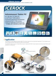 Infotainment Tablet PC Application