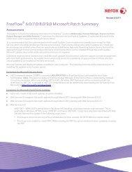 FreeFlow 6.0/7.0/8.0/9.0 Microsoft Patch Summary