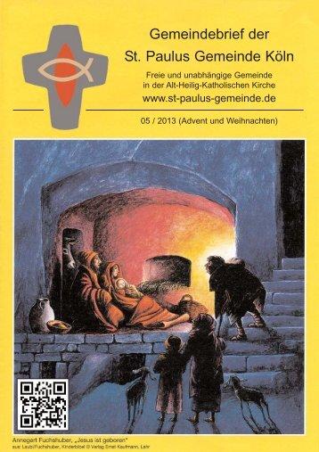 05 / 2013 Advents - St-Paulus-Gemeinde
